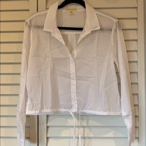 White Button Front Shirt from Anthropologie